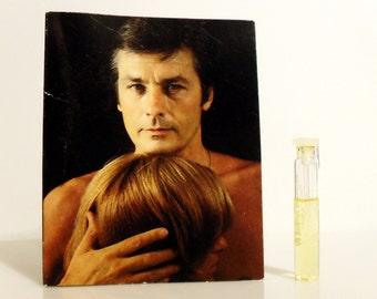 Vintage 1980s Le Temps d'Aimer by Alain Delon 0.05 oz Eau de Toilette Sample Vial on Card PERFUME
