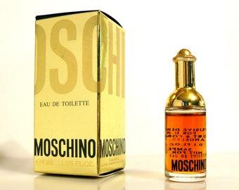 Vintage 1980s Moschino by Moschino 0.1 oz Eau de Toilette Mini Miniature and Box PERFUME