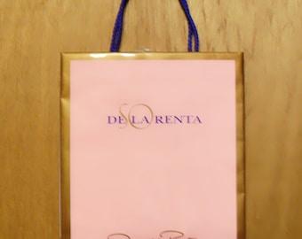 Vintage 1990s So de la Renta by Oscar de la Renta Perfume Promotional Paper Shopping Bag Designer Fragrance Collectible