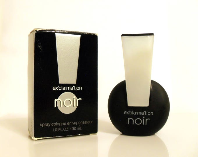 Vintage 1990s Exclamation Noir by Coty 1 oz Cologne Spray and Box PERFUME
