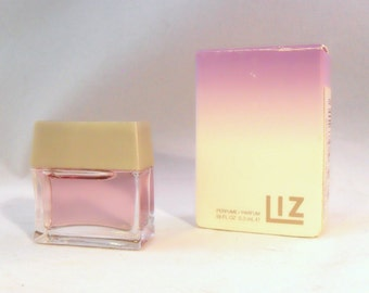 Vintage Liz by Liz Claiborne 0.18 oz Parfum Splash Miniature Mini PERFUME Bottle and Box
