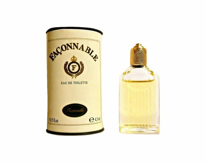 Vintage 1990s Faconnable for Men 0.15 oz Eau de Toilette Mini Miniature COLOGNE and Box