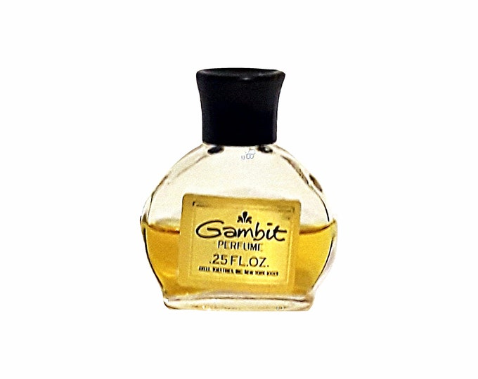 Vintage Gambit by John Robert Powers 0.25 oz Pure Parfum Mini Splash 1970s Perfume