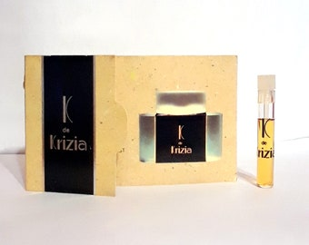 Vintage 1980s K de Krizia Parfum Sample Vial on Card PERFUME