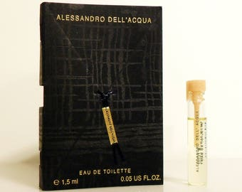 Alessandro Dell'Acqua for Women 0.05 oz Eau de Toilette Sample Vial on Card PERFUME