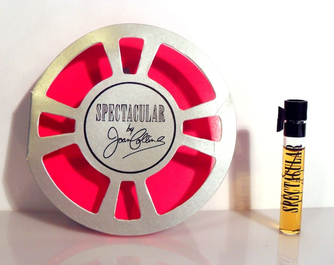 Vintage 1980s Spectacular by Joan Collins 0.034 oz Sample Vial on Card PERFUME