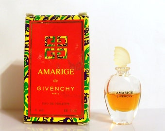 Vintage 1990s Amarige  0.13 oz Eau de Toilette Miniature Mini Bottle with Box PERFUME