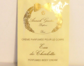 Vintage 1980s Eau de Charlotte by Annick Goutal 0.33 oz Perfumed Body Cream Sample Packet