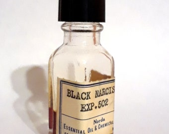 Vintage 1930s 5ml Black Narcissus Narcisse Noir Caron Type PERFUME BASE Sweet Spicy Floral Essential Oil Perfumery