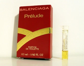 Vintage 1980s Prelude by Balenciaga by Balenciaga 0.01 oz Parfum de Toilette Sample Vial on Card PERFUME