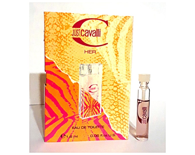 Just Cavalli Her Perfume by Roberto Cavalli 0.05 oz Eau de Toilette Sample Vial on Card