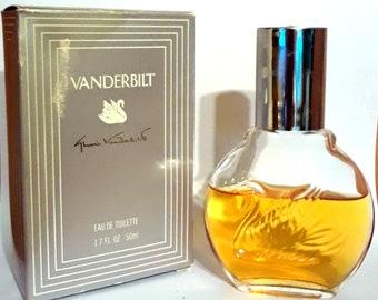 Vintage 1990s Vanderbilt by Gloria Vanderbilt 1.7 oz Eau de Toilette Splash and Box PERFUME