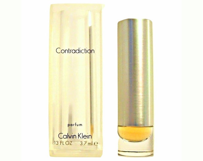 Vintage 1990s Contradiction by Calvin Klein 0.13 oz Pure Parfum Mini Miniature PERFUME