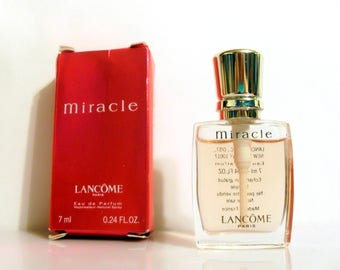 Vintage Miracle by Lancome 0.24 oz Eau de Parfum Spray Mini Miniature Perfume and Box
