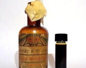 Vintage 1920s 2 Dram (0.25 oz) Violet B#2 by Van Dyk & Co Violet PERFUME BASE Creation Essential Oil Perfumery Making