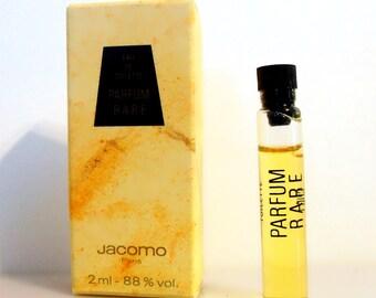 Vintage 1980s Parfum Rare by Jacomo 0.06 oz Eau de Toilette Sample Vial on Card PERFUME