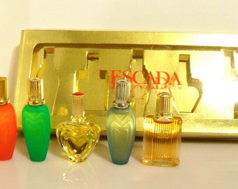 Vintage 1990s Escada Assorted Mens & Womens Mini Perfume Miniature Cologne YOUR CHOICE