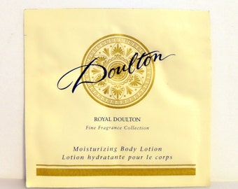 Vintage 1990s Doulton by Royal Doulton 0.34 oz Perfumed Body Lotion Sample Packet