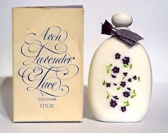 Vintage Perfume 1970s Lavender & Lace Avon 1.7 oz (50ml) Cologne Splash Hard to Find Women's Fragrance