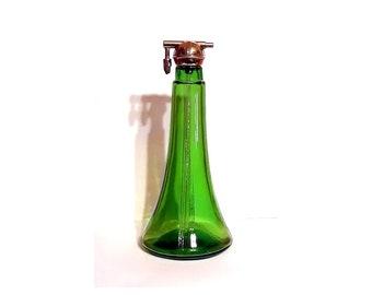Antique 1920s Richard Hudnut Perfume Atomizer Bottle Green Glass Counter Demonstration Tester
