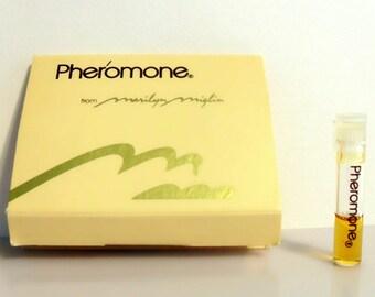 Vintage 1980s Pheromone by Marilyn Miglin 0.018 oz Pure Parfum Sample Vial on Card PERFUME