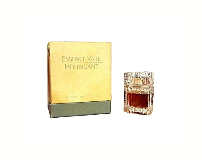 Vintage 1970s Essence Rare by Houbigant 0.25 oz (7.5ml) Pure Parfum Splash and Box DISCONTINUED PERFUME
