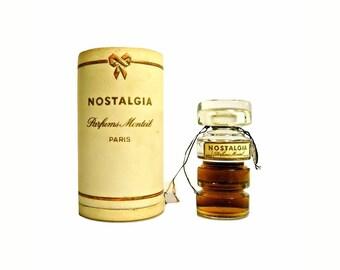 Vintage 1940s Nostalgia by Germaine Monteil 0.5 oz (15ml) Pure Parfum Extrait Perfume Bottle & Presentation Box
