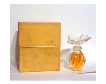 Vintage 1980s L'Air du Temps by Nina Ricci 0.25 oz (7.5ml) Pure Parfum Splash Crystal Single Dove Stopper Lalique Perfume Bottle with Box