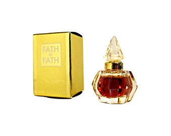Vintage 1990s Fath de Fath 0.17 oz Eau de Toilette Miniature Mini Bottle with Box PERFUME #2