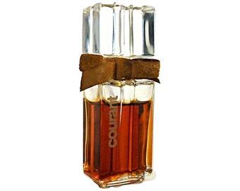 Vintage 1970s Courant by Helena Rubinstein 0.25 oz (7.5ml) Pure Parfum Splash French Crystal Perfume Flacon