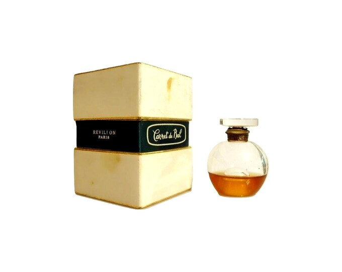Vintage Carnet de Bal Perfume by Revillon 0.5 oz (15ml) Parfum 1950s Brandy Snifter Bottle