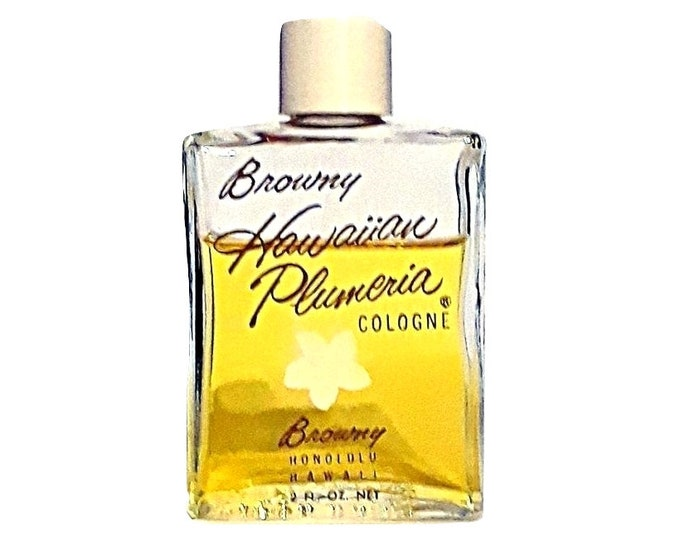 Vintage Hawaiian Plumeria Perfume by Browny Royal Hawaiian 2 oz (60ml) Cologne 1950s Splash