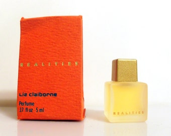Vintage 1980s Realities by Liz Claiborne 0.17 oz Parfum Miniature Mini PERFUME