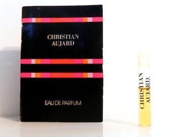 Vintage 1980s Christian Aujard by Parfums Christian Aujard 0.03 oz EDP Sample Vial on Card PERFUME