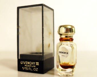 Vintage 1970s Givenchy III by Givenchy  1/15 oz Micro Mini Perfume Miniature Parfum in Box DISCONTINUED