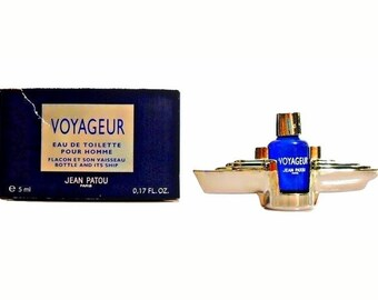 Vintage 1990s Voyageur by Jean Patou 0.17 oz Eau de Toilette Mini Miniature COLOGNE