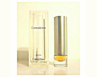 Vintage 1990s Contradiction by Calvin Klein 0.13 oz Pure Parfum Mini Miniature PERFUME