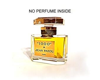 Vintage 1970s 1000 by Jean Patou 1 oz Parfum Heavy Cut Crystal EMPTY Perfume Bottle