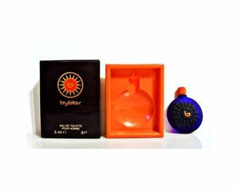 Vintage 1990s Byblos Pour Homme 0.17 oz Eau de Toilette Miniature Mini COLOGNE