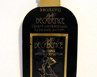 Vintage 1980s Decadence by Decadence Perfumed Silkening Hand and Body Lotion Sample Packet