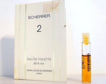 Vintage 1980s Scherrer 2 by Jean Louis Scherrer 0.05 oz Eau de Toilette Sample on Card PERFUME