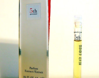 Vintage 1990s 5th Avenue by Elizabeth Arden 0.06 oz Parfum Sample Vial on Card PERFUME