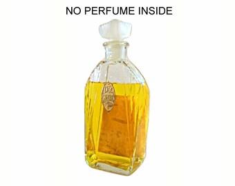 Antique 1920s L'Ile D'Amour by Parfumerie Lournay Vintage Art Deco Glass Perfume Bottle
