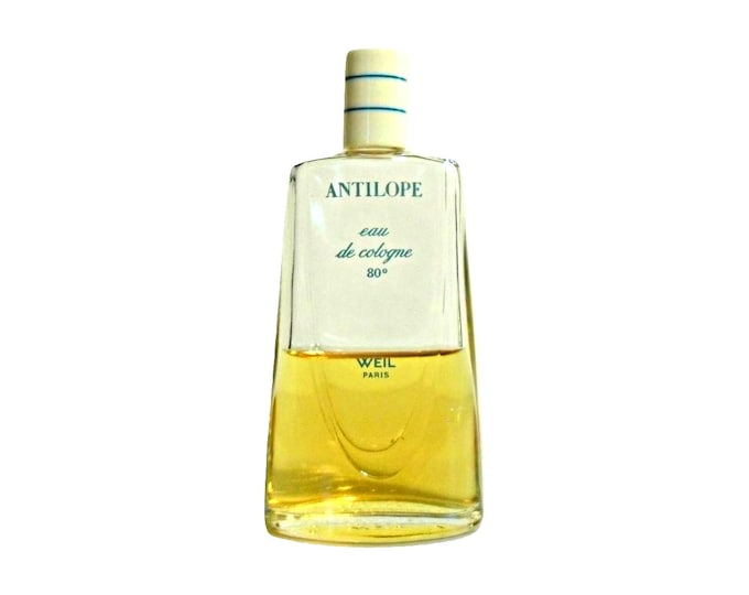Vintage 1950s-1960s Antilope by Weil 2 oz Eau de Cologne Splash PERFUME