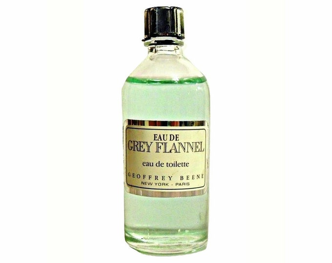 Vintage 1980s Grey Flannel by Geoffrey Beene 0.5 oz Eau de Toilette Mini Miniature COLOGNE