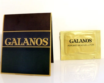 Vintage 1980s Galanos by Galanos 0.10 oz Perfumed Body Lotion Sample Packet on Card