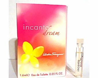 Incanto Dream by Salvatore Ferragamo 0.05 oz Eau de Toilette Sample Vial on Card PERFUME