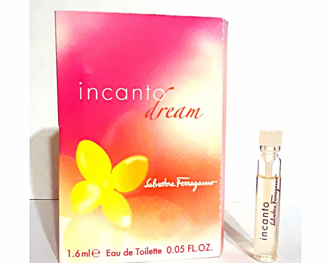 Incanto Dream Perfume by Salvatore Ferragamo 0.05 oz Eau de Toilette Sample Vial on Card