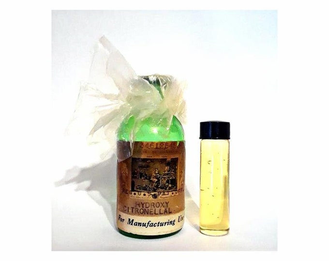 Vintage 1920s 2 Dram (0.25 oz) Hydroxycitronellal by Givaudan Delawanna PERFUME BASE Lily of the Valley Fragrance Creation Perfumery Making
