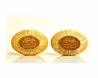 Pair Vintage 1960s Woodhue by Faberge 2.5 oz Perfumed Soap Cakes